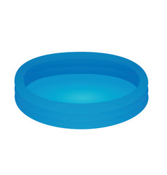 Blue kids padding pool vector
