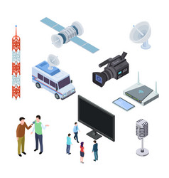 broadcasting equipment television stream vector image