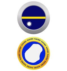 button as a symbol NAURU vector image
