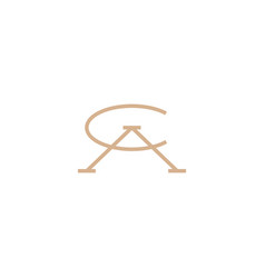 Ca letter mark initial logo icon vector