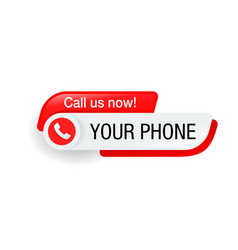 Call us - phone button template vector
