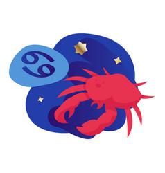 cancer zodiac icon vector image