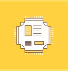 Chip cpu microchip processor technology flat line vector