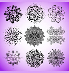 collection of mandalas for coloring pages vector image