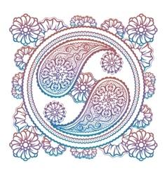 Colorful stylish yin-yang sign vector