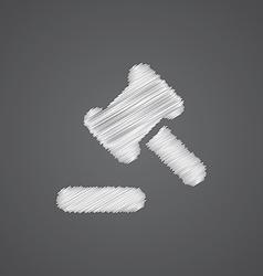 Court law sketch logo doodle icon vector