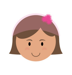 cute bride in pink icon image vector image