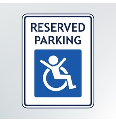 Disabled parking sign vector