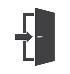 Door icon emergency exit sign vector