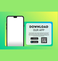 Download page mobile app empty screen vector