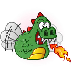 dragon fly cartoon character vector image