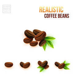 easy to use colored coffee beans for your design vector image