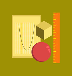 Flat icon on stylish background geometry lesson vector