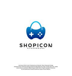 game shop logo template design vector image