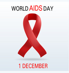 global aids day concept background realistic vector image