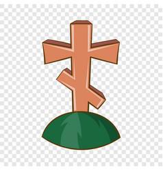 grave cross icon cartoon style vector image