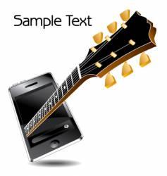 guitar phone vector image
