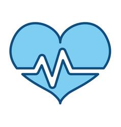 Heart beating pictogram vector