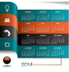 Infographics 2014 calendar vector