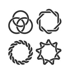 Interweaving-shapes vector