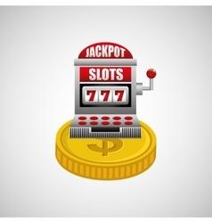 jackpot machine design vector image