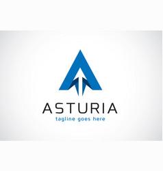 Letter a logo template design emblem design vector