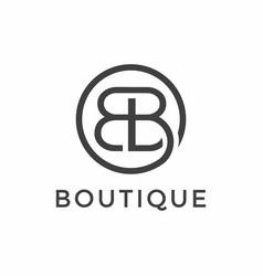 Letter b for boutique logo design template vector