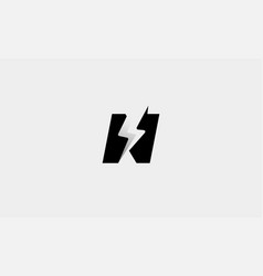 Letter n bolt logo design icon vector