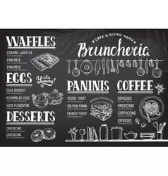 Menu restaurant food template vector image