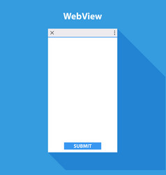 mobile web view form for application vector image