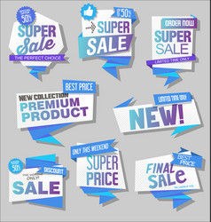 modern labels badges and tags 5 vector image
