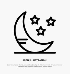 moon cloud weather line icon vector image