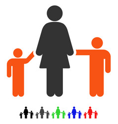 mother and children flat icon vector image