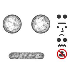 Net indifferent smiley mesh vector