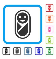 Newborn framed icon vector