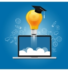 online education learning laptop e-learning vector image