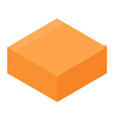 orange sticky notes post it isometric view vector image