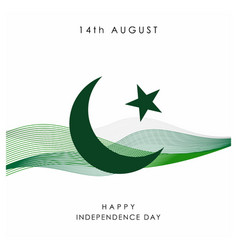 Pakistan independence day design vector