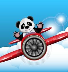 Panda on the plane vector