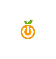 Power fruit logo icon design vector