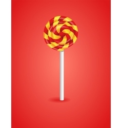 Red background with candy vector