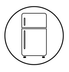 refrigerator 07 vector image