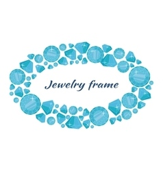 Round Frame Made of Diamonds vector