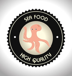 Seafood design vector