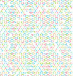 seamless multicolored cube pattern vector image