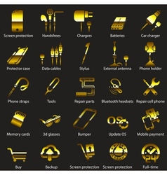 set Mobile servise web icons vector image