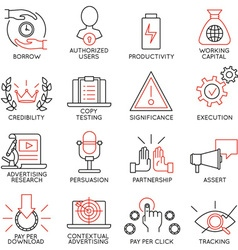 Set of icons related to business management - 11 vector