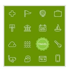 set travel holiday elements can be used as logo vector image
