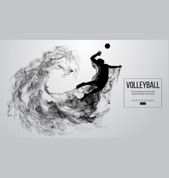 Silhouette of a volleyball player man boy male vector