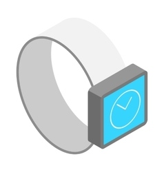 smart watch icon isometric 3d style vector image